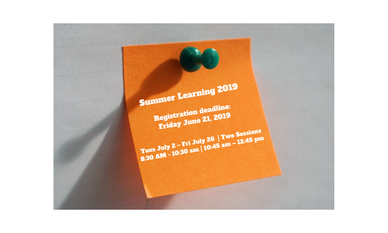 Summer Learning 2019