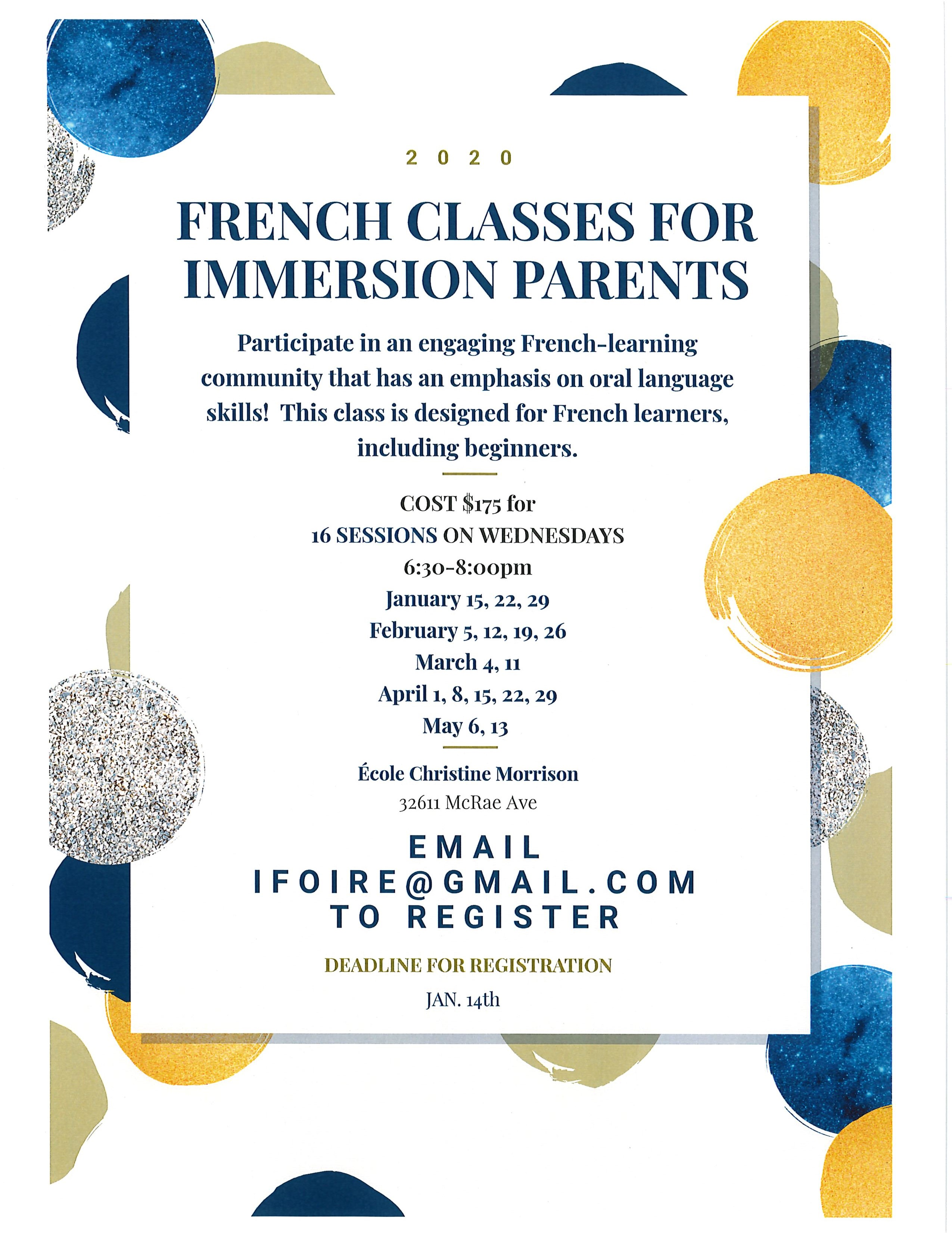 Parent French Course 2020